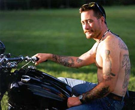 Eddie on his bike before the accident